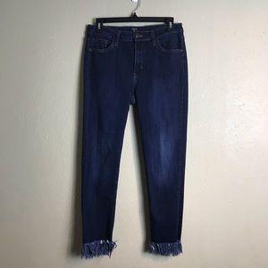 Just black fray hem cropped  jeans 30 O20